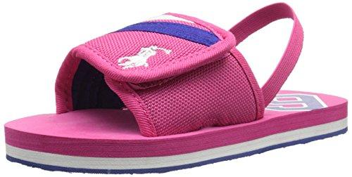Polo Ralph Lauren Kids Ferrysldeiii ATPK CRD N/ATPK Fashion Slide Sandal (Toddler/Little Kid/Big Kid), Active Pink, 10 M US Toddler