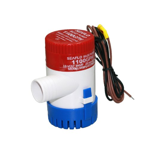 Seaflo Brand New 1100GPH 12V 3A Electric Submersible Bilge Pump with 1.125 Outlet for Marine Fishing Boat Runabouts Cruisers Yachts Boat Shops Boaters