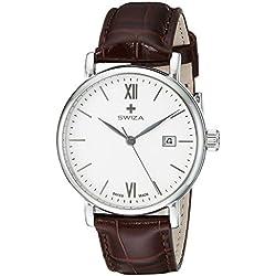 Swiza Men's WAT.0141.1001 Alza Analog Display Swiss Quartz Brown Watch
