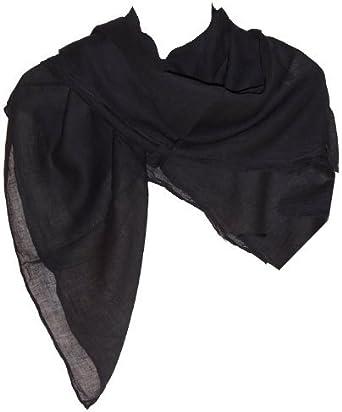 Pañuelo de algodón 10 x negro 100 x 100 cm de hombro uni paño accesorio para la cabeza: Amazon.es: Ropa y accesorios