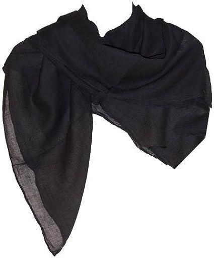 Pañuelo de algodón 10 x negro 100 x 100 cm de hombro uni paño ...