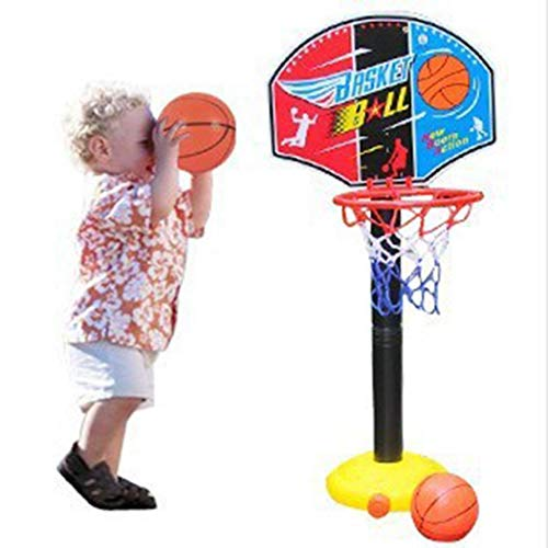Acecor Portable Indoor Outdoor Kids Adjustable Height Basketball Stand Toy Set Toy Basketball