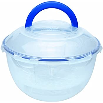 LOCK & LOCK 25 Cups Salad-To-Go Bowl, Clear