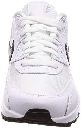 Nike Women's WMNS Air Max 90, WhiteBlack Reflect Silver, 12