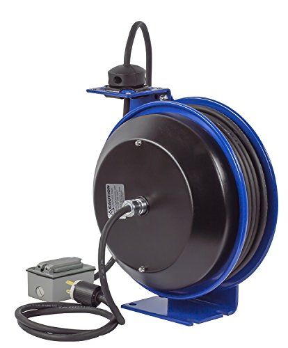 Coxreels EZ-PC13-5012-F Safety Series Spring Rewind SJO Power Cord Reel, 115 Volts, 20 Amp, 50' Length by Coxreels (Image #8)