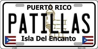 Metal Rico Puerto (Smart Blonde LP-2865 Patillas Puerto Rico Metal Novelty License Plate)