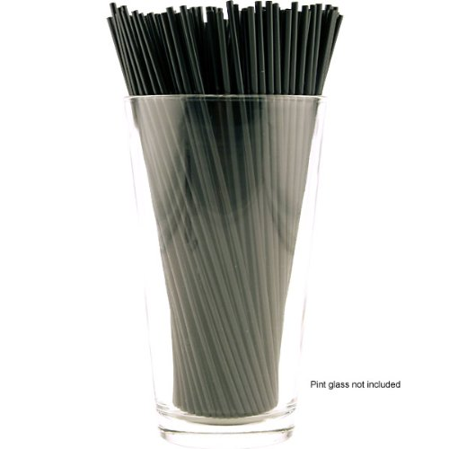 Cocktail Stir Straws - 2500 Count - Black 7'' by KegWorks