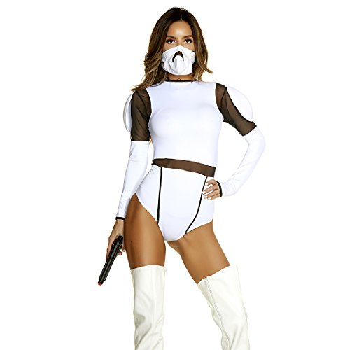 Tv Movie Themed Costumes (Forplay Women's Such a Trooper Sexy Movie Character Costume, White, S/M)