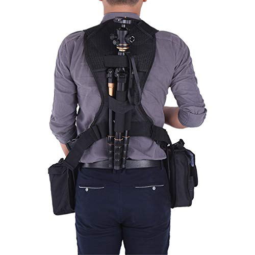 Triple Camera Harness, Micnova Carrying Chest Vest System with Side Holster for Smartphone Lens Canon Nikon Sony DV DSLR Camcorder Tripod Stand Wedding Journalism YouTube Vlog Livestream by Micnova (Image #6)
