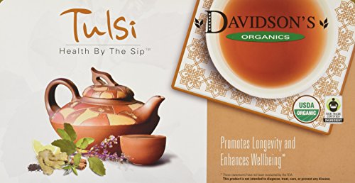 Davidson's Tea Single Serve Tulsi Ginger Lemon, 100-Count Tea Bags