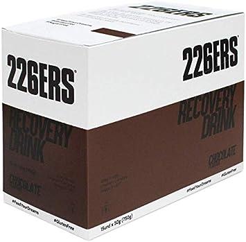 226ERS Recovery Drink Monodosis, Recuperador Muscular con Proteína Whey, Creatina, Hidratos de Carbono, Triglicéridos y L-Arginina, Chocolate - 15 ...