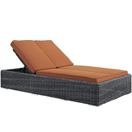 Modway Summon Outdoor Patio Double Chaise Lounge With Sun...
