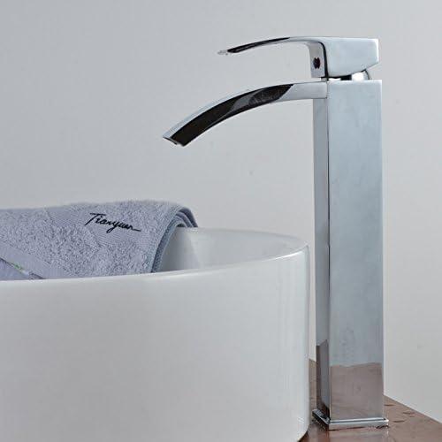 European-style Single Hole Long Basin Mixer Waterfall Tap Lavatory Faucet, Chrome Finish Ys2390