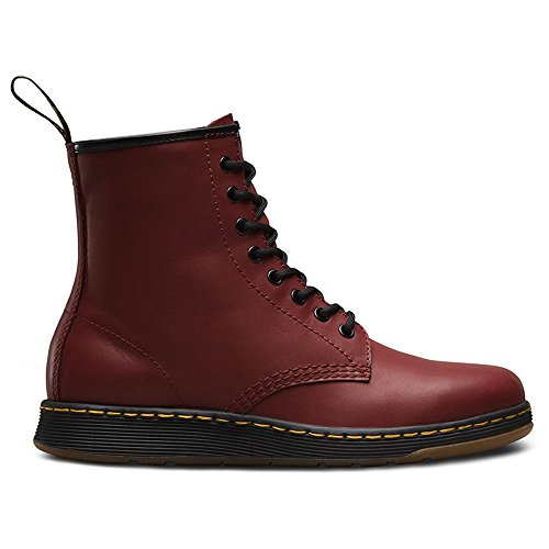 Dr.Martens Womens Newton 8 Eyelet Temperley Cherry Leather Boots 8.5 (8 Eyelet Leather)