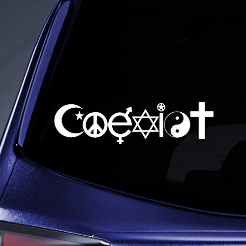 Bargain Max Decals Coexist Peace Religion Sticker Decal Notebook Car Laptop 8