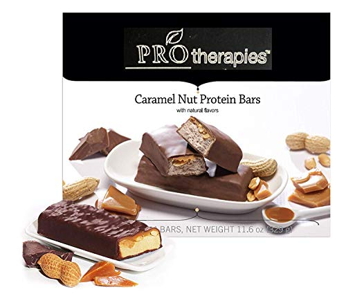 ProTherapies Protein Bar 15g - Low Carb High-Protein Weight Loss Snack Bar for Healthy Diets, Caramel Nut, 7 Count