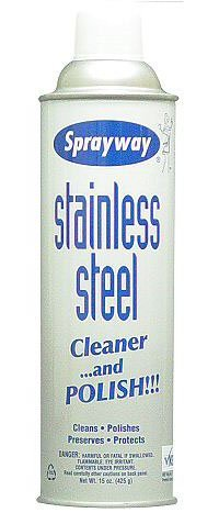 Sprayway Stainless Steel Cleaner and Polish, 15 Ounce - (Pack Of 12) by SprayAway
