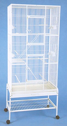 Extra Large Tall 3 Levels Ferret Chinchilla Sugar Glider Squirrel Animal Cage With 1/2 Inch Cross Shelves and Ladders, 30