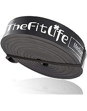 FitLife Motståndsband Dragband - Pull-up Stöd Träningsband, Långa Träningsband för Stretching, Styrkelyft, Fitness Träning, Bonus Bärväska och Träningsguide