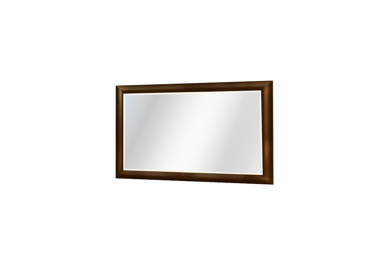 Furniture of America Bernette Framed Wall-Mounted Mirror, Antique Cherry Finish