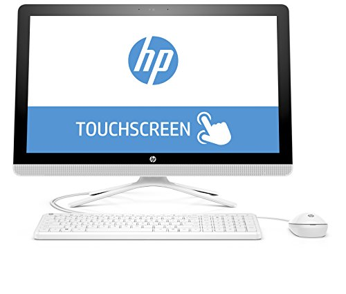 HP 24-g052ng (X0Z83EA) 60,45 cm (23,8 Zoll / FHD IPS Touchscreen) All in One Desktop PC (Intel Core i3-6100U, 4GB RAM, 1 TB HDD, Intel HD-Grafikkarte 520, Windows 10 Home 64) weiß