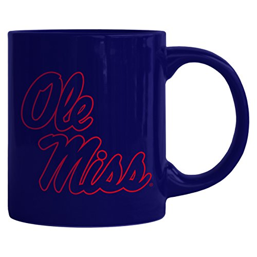 NCAA Mississippi Ole Miss Rebels Sculpted Rally Mug, 11-ounce