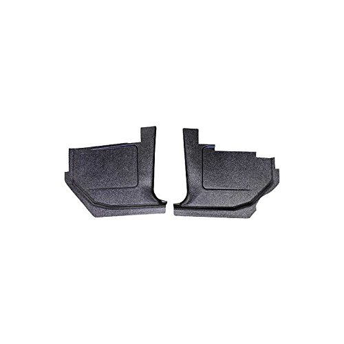 MACs Auto Parts 42-42001 -69 Fairlane-Torino-Ranchero Black Paintable Injection Molded ABS Plastic Kick Panels