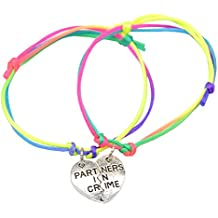 Catnew Fashion Women Girl Letter Carved Heart Best Friend Matching Bracelet