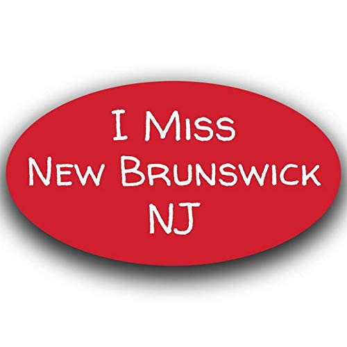 MKS0502 More Shiz I Miss New Brunswick New Jersey Decal Sticker Travel Car Truck Van Bumper Window Laptop Cup Wall One 5.5 Inch Decal