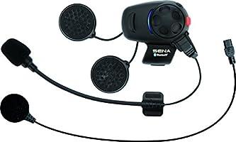 Sena SMH5-UNIV Auriculares e Intercomunicador Bluetooth SMH5 para Escúteres y Motocicletas con Juego de Micrófono Universal