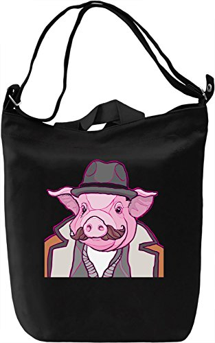 Pig man Borsa Giornaliera Canvas Canvas Day Bag| 100% Premium Cotton Canvas| DTG Printing|