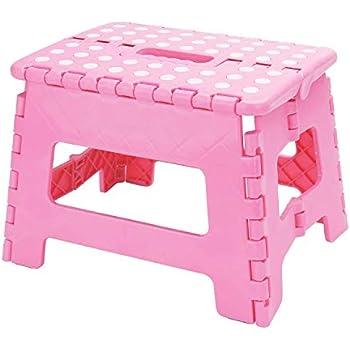 Amazon Com Home Basics Folding Step Stool Pink Home