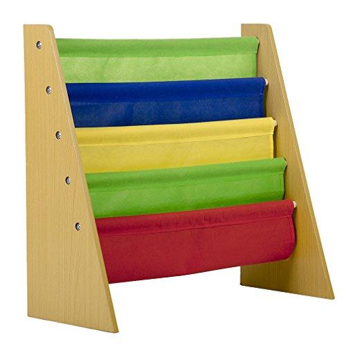 Kids Book Rack Storage Sling Bookshelf Toy Display Bookcase