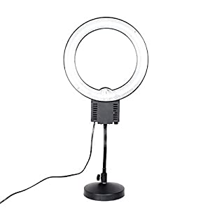 makeup light stand. fotoconic 40w 5400k daylight fluorescent studio ring light with table top stand for beauty makeup selfie video photo