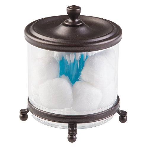 mDesign Traditional Bathroom Canister Cosmetic