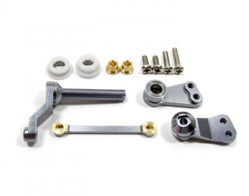 GPM Racing #CC048GM Aluminum Steering Assembly Set Gun Metal for Tamiya CC01