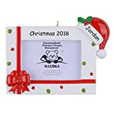 MAXORA Bow Photo Frame Ornament Personalized Christmas Decoration
