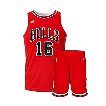 Adidas - Maillot et Short NBA Pao Gasol Chicgo Bulls Rouge pour Enfant Junior: Amazon.es: Deportes y aire libre