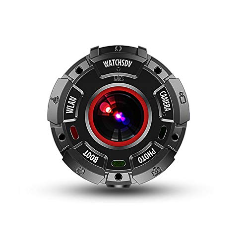 bxbxYY Round Motion Camera, 150° Large Wide Angle, Built-in Wireless Wi-Fi Function Button, 1080p Hd Resolution, 8 Megapixel, Hd Depth Waterproof Camera,Easy to Carry Waterproof Sports Camera