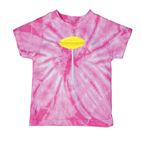 - Oval Lollipop Yellow Short Sleeve Crewneck Baby Boys-Girls Cotton Tie Dye T-Shirt Fine Jersey - Pink, 3T