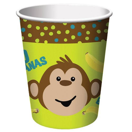 Monkeyin' Around 9oz Cups, 8 count