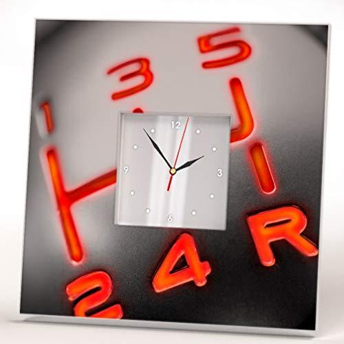 Manual Palanca Cambios Símbolo Coche Fan Art Reloj De Pared Enmarcado Espejo Diseño Hogar Regalo