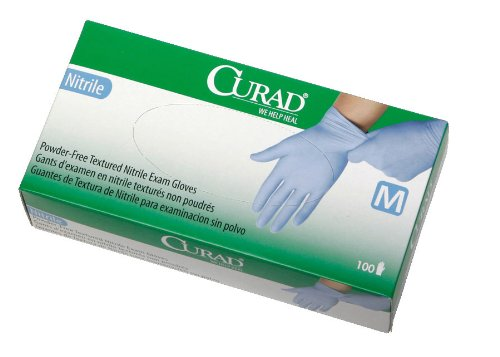 MIICUR8316 - Nitrile Powder-Free Exam Glove - Size: Large by Curad