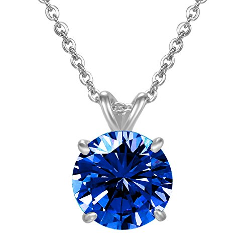 NaNa Chic Jewelry Women Swarovski Elements Round September Birthstone Cubic Zircon White Gold Plated