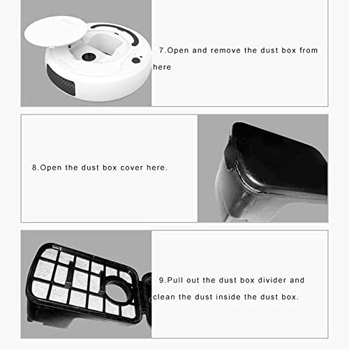 Mdsfe Aspirateur de Plancher Intelligent Multifonctionnel 3-en-1 A9to Robot de Balayage Intelligent Rechargeable Aspirateur de Balayage Humide et Sec - Noir, A1