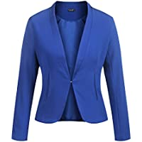 Zeagoo Womens Casual Long Sleeve Work Office Open Front Cardigan Blazer Jacket Suits