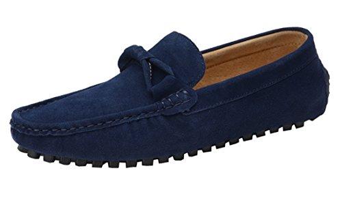 TDA Mens Fashion Casual Round Toe Walking Driving Doug Shoes Blue SPFlWcGMw