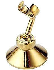 FidgetFidget Brass Wall Bracket Swivel Holder for Bathroom Hand Shower Bidet Spray Hanger W1 Gold