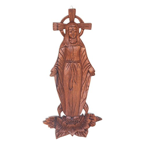 - NOVICA Religious Large Mary Full of Grace' Wood Wall Panel