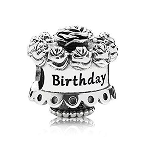 - SUNWIDE Happy Birthday Charms Sterling Silver fit Pandora Bracelets